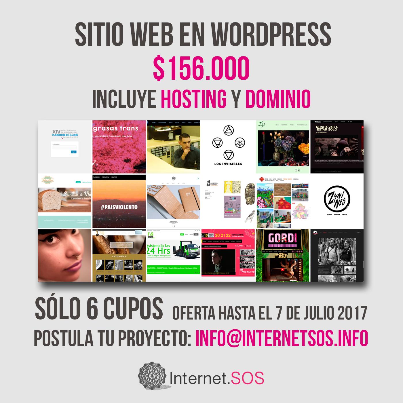 Sitio web en WordPress por $150.000 Hosting y Dominio gratis